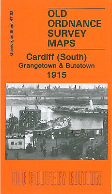 Old Ordnance Survey Map Cardiff South Grangetown Butetown 1915 Roath Basin