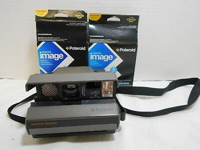 Polaroid Spectra System Instant Camera w/ Strap + 3 packs of Spectra Image Film