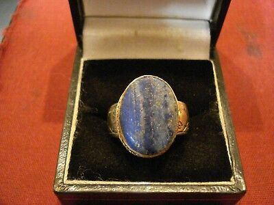 Ancient Byzantine / Medieval Ring With 'blue Stone'--Detector Find