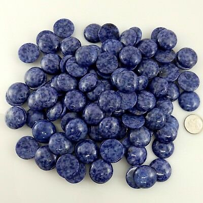 1750 Carats Natural Sodalite Gemstones 20mm Round Cabochons Cabs Parcel