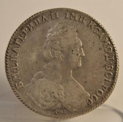 1 Rouble Catherine the Great 1778 Russia Silver