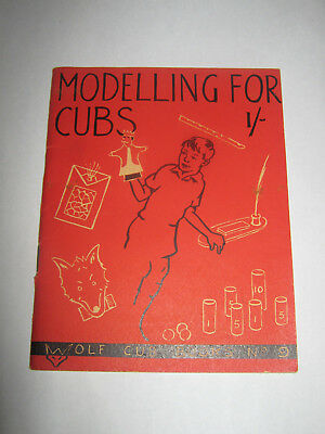 The Boy Scouts Association Modelling for Cubs Wolf Cub Books No 9 1954