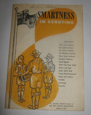 Boy Scouts of Canada Smartness in Scouting Booklet - 1960's (?)