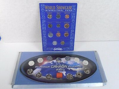 2000 Canada Millenium 13 Coin Set & Disney Epcot 11 International Coin Set
