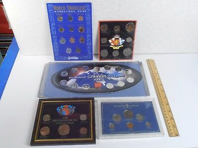 2000 Canada Millenium, Epcot, Norway, Britain, Foreign *5 Coin Sets Lot*