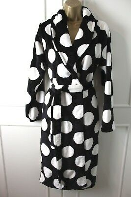 Next Spotted Super Soft Fleece Dressing Night Gown Robe Small Long 8-10 UK 02c575f98