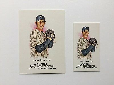 2 X Lot of New York Yankees Andy Pettitte 2008 Topps Allen & Ginters FREE SHIP..