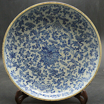 JR Perfect Chinese blue and white porcelain plate painted Traditional pictures