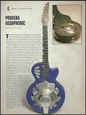 The Larry Pogreba Resophonic Hubcap Resonator Guitar 8 x 11 pinup article