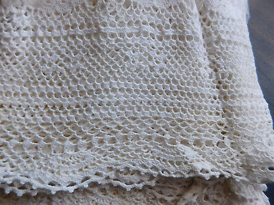 Vintage Lace Bedspread/Cover/Tablecloth Unused Cream 270 cms x 320 cms