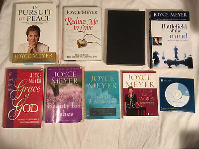 Lot JOYCE MEYER Beauty Ashes PURSUIT OF PEACE Healing Brokenhearted lot of 9
