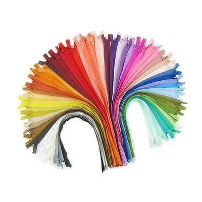 18pcs 40cm Multi-colored Nylon Invisible Zippers Closed End DIY Sewing Craft