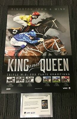 Winx & Kingston Town Horse Racing King & Queen Triple Cox Plate Winners Print