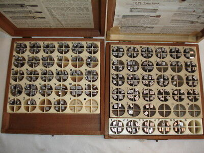 Kingsley Stamp Machine 18 Point HOBO Type Set Caps & Lower & Nos