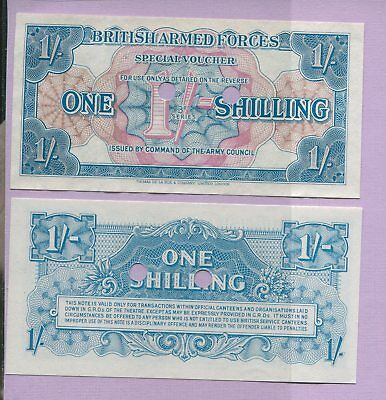 Great Britain British Armed Forces 1 Shilling Special Voucher Banknote Unc Canx