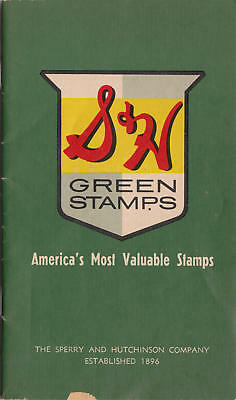 US S&H Green Stamps empty booklet Disneyland Promotion 1963