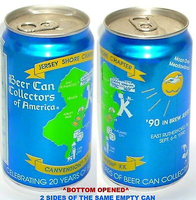 1990 20th CONVENTION BEER CAN COLLECTORS AMERICA NEW JERSEY SHORE E.RUTHERFORD