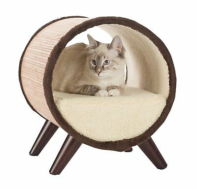 Paws & Purrs Tubular Small Pet Bed, Bamboo/Vanilla