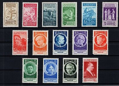 P61794/ Turquie Turkey / Mi # 985 / 999 Full Set Neuf * / Mint Mh 1312 €
