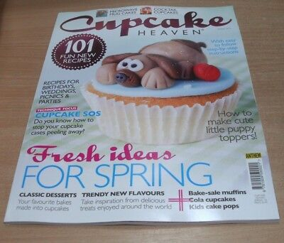 Cupcake Heaven magazine SPRING 2018 Puppy Toppers, Classic Desserts, Cola, Pops