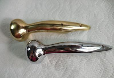 LOT of 2 --TWO--Horse Hames KNOBS, 1 SOLID BRASS and 1 CHROME. Walking stick etc