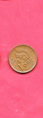 Norway Km403 1964  Vf-Very Fine-Nice Old Vintage Circ Squirrel Animal Ore Coin