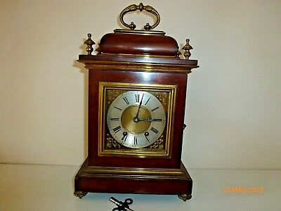 Antique Walnut & Brass Bracket  Clock by  F MARTI  1870 - 1899