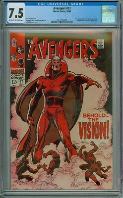 Avengers #57 - CGC Graded 7.5 - 1st Appearance Of The Vision