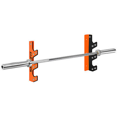 Mirafit 3 Barbell Wall Mount Rack Gym Weight Lifting Bar Storage Holder/Hanger