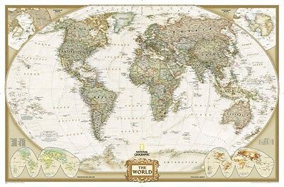 World Executive, enlarged &, tubed Wall Maps World (Reference - W. 9780792293170