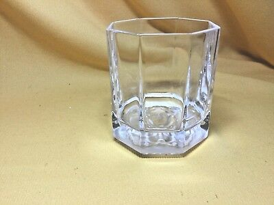 "Rosenthal Versace ""medusa"" Lumiere Clear Octagonal Crystal Whiskey Glass"
