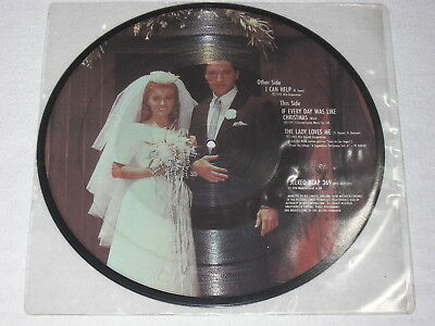 """Picture Disc 10"""" Elvis Presley - I Can Help (Merry Christmas) Uk-Org '83 Top Rar"""