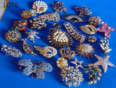 Lot  Of  Antique  Vintage  Costume  Jewels  For  Repair  /pieces  N6
