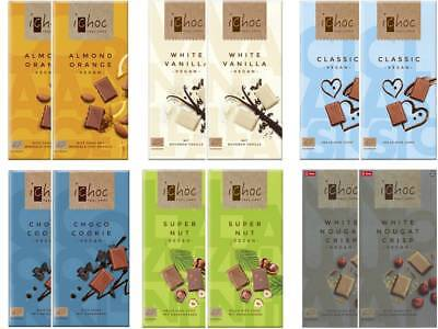 IChoc Vegan German Chocolate Bars Mixed Case Selection 12 x 80g