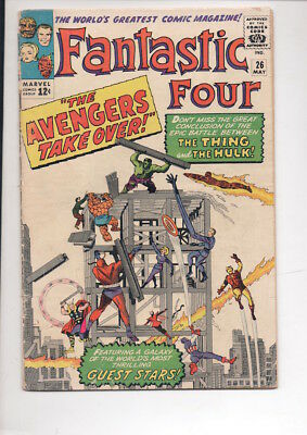 FANTASTIC FOUR #26 comic/AVENGERS story/from 1964/50% OFF OVERSTREET
