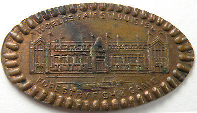 St. Louis, Missouri - World's Fair 1904 Forestry Fish & Game Elongated Cent