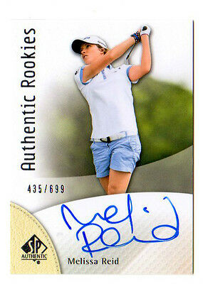 Melissa Reid 2014 Sp  Authentic , Authentic Rookies (Autograph) # /699