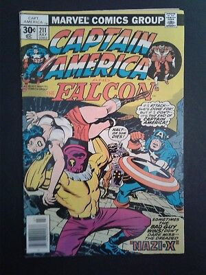 Captain America Vol. 1 No. 211 July 1977 Marvel Comics Great Condition