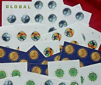 Combo two sheets of THE MOON & GREEN SUCCULENT Global Forever US Postage Stamps