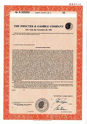 Procter & Gamble Co., 1990 Specimen Bond