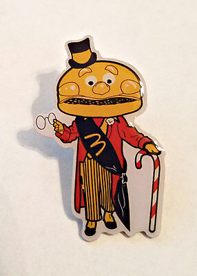 New McDonald's Lapel Pin Holiday Christmas Mayor McCheese With Candy Cane