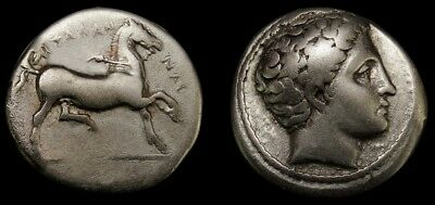 ARES and Horse.THESSALY, Phalanna. Exceptional Ancient Greek silver coin Drachma