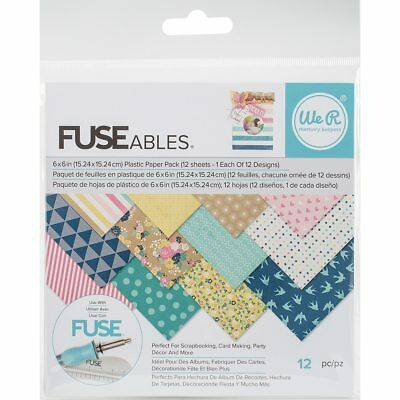 "We R Memory Keepers FUSEables Plastic Paper 6""X6"" 12/Pkg-12 Designs/1 Each"