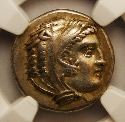 NGC XF⭐ Alexander the Great. Early  Posthumous. Very Rare Gold Iridescent patina
