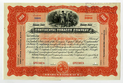 New Jersey Continental Tobacco Co., ca.1890-1900 Specimen Stock.