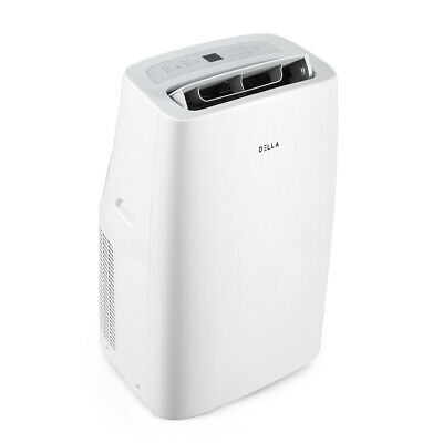 12,000 BTU Portable Air Conditioner Fan Cooling Dehumidifier LCD w/ Remote White