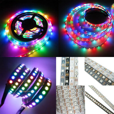 5V Addressable WS2812B 5050 RGB LED Strip Light 5M 150 300 Leds 144 60LED/M