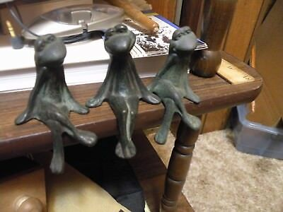 3 Shelf Sitter-Cast Iron Frogs-Pre-Owned