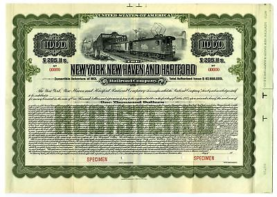 New York, New Haven & Hartford Railroad Co., 1913 SPECIMEN $1000 Bond VF ABNC