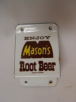 Mason's Root Beer Porcelain Wall Mount Soda Advertising Bottle Opener